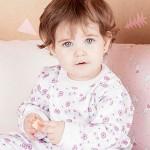 pijama estampado para bebe nena Naranjo otoño invierno 2015