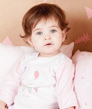 remera mangas largas para bebe nena Naranjo otoño invierno 2015