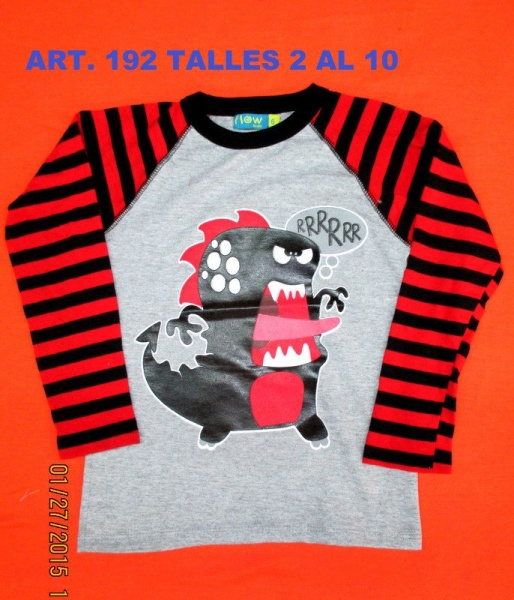 remera mangas largas para nenes flow kids invierno 2015