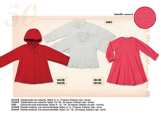 saco y vesttido para bebes nenas  - Pilim otoño invierno 2015