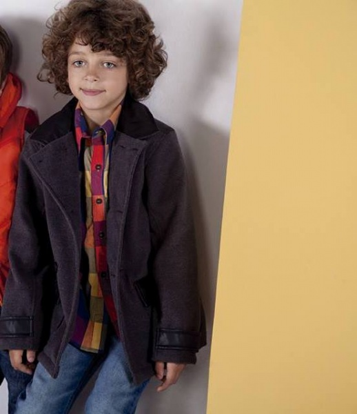 tapado gris para nenes otoño invierno 2015 - B WAY