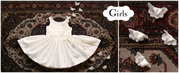 vestido blanco Girls boutique