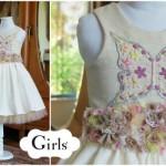 vestido bordado con mariposas para nenas otoño invierno 2015 Girls boutique