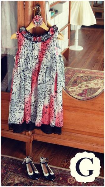 vestido de fiesta estampado para nenas otoño invierno 2015 - Girls boutique