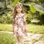 vestido floreado para nenas mangas largas Magdalena Esposito otoño invierno 2015