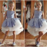 vestido lila con tul para nenas otoño invierno 2015 Girls boutique