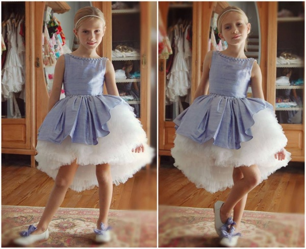 vestido lila con tul  para nenas otoño invierno 2015 - Girls boutique