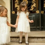 vestido mangas corta blanco Magdalena Esposito otoño invierno 2015