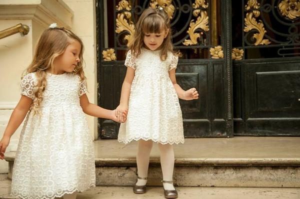 vestido mangas corta blanco  - Magdalena Esposito otoño invierno 2015