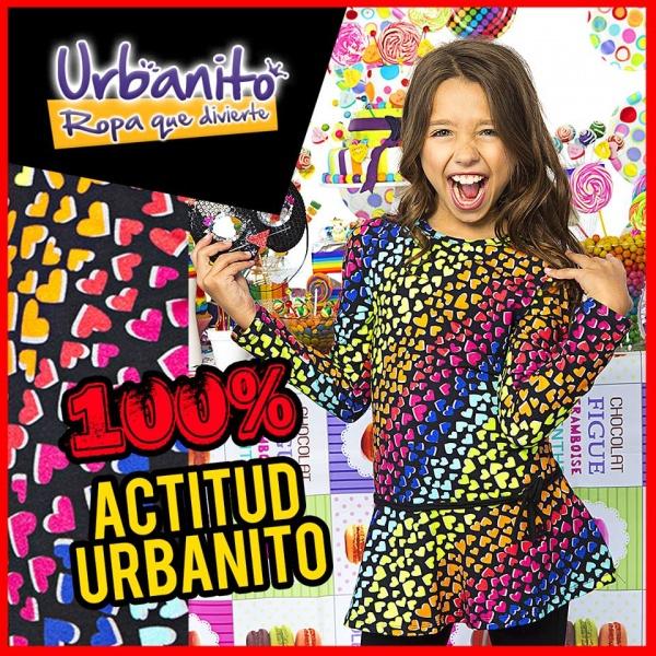 vestido mangas largas para nenas estampado - Urbanito