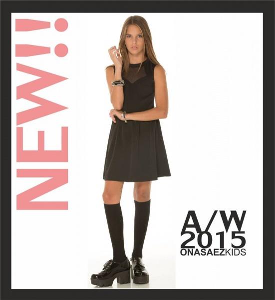 vestido negro para niñas  Otoño Invierno 2015 en Ona Saez Kids