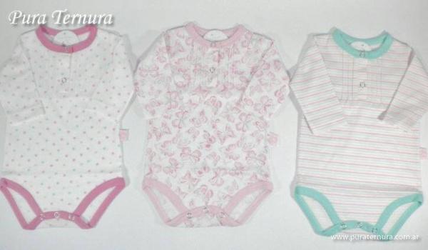 body mangas largas bebe nena - Pura Ternura - ropa bebe invierno 2015