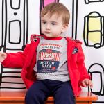 campera de algodon para bebe invierno 2015 Soft Red