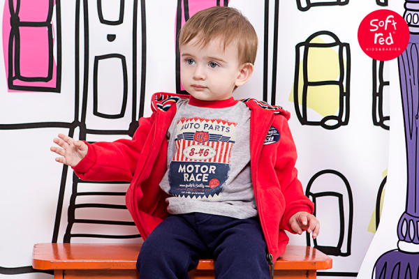 campera de algodon para bebe  invierno 2015 - Soft Red
