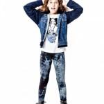 campera de jeans y calza batik para nenas otoño invierno 2015