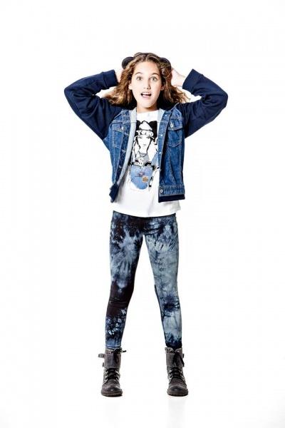 So Cippo - campera de jeans y calza batik para nenas otoño invierno 2015