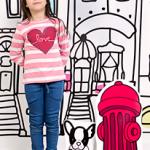remera a rayas para nena invierno 2015 Soft Red