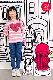 remera a rayas para nena  invierno 2015 - Soft Red