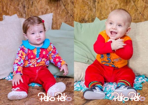 ropa roja para bebe Pako Peko invierno 2015