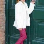 saco piel color crudo para nenas L'Elefantino invierno 2015
