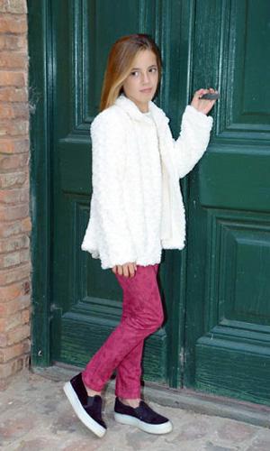 saco piel color crudo para nenas - LElefantino invierno 2015