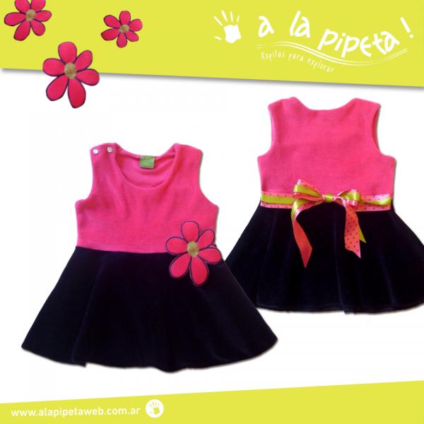 A La Pipeta  - vestido de plush para nenas invierno 2015