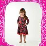 Bluma vestido estampado para nena invierno 2015