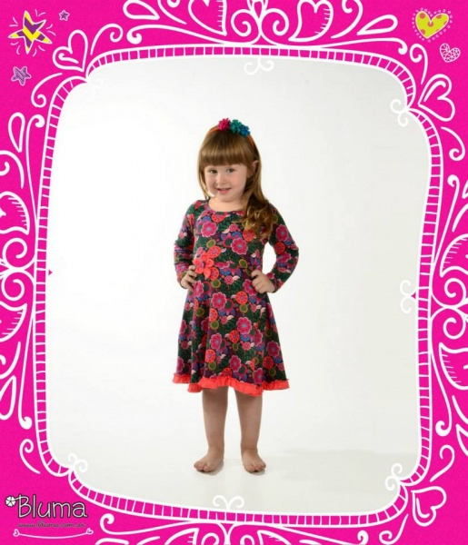 Bluma - vestido estampado para nena invierno 2015