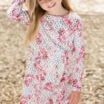 Vestidos mangas largas para nenas invierno 2015