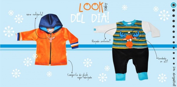 campera y enterito de plush Yaby bebe invierno 2015