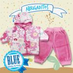 conjunto de plush bebe nena BLUE baby Kids invierno 2015