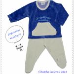 conjunto de plush para bebes Chamba invierno 2015