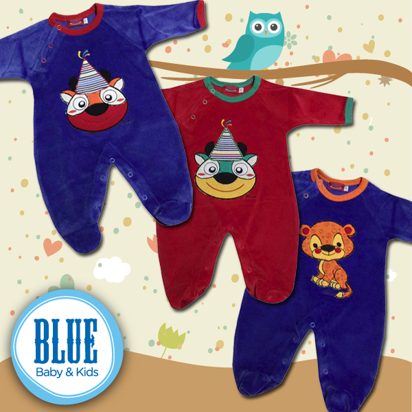 enterito de plush bebe BLUE baby Kids invierno 2015