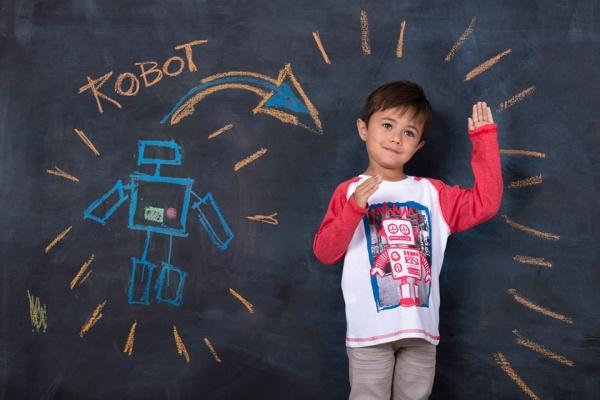 remera mangas largas niños robot invierno 2015