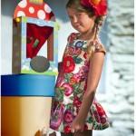 vestido con flores grandes tendencias moda para nenas verano 2016