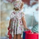 vestido estampado floral para nenas tendencia verano 2016