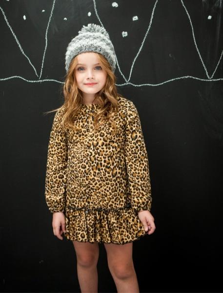 vetido para nena animal print Lechezucca invierno 2015