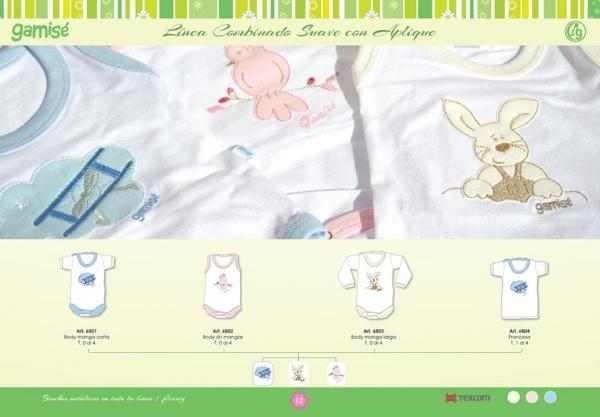 GAMISE - remera y body para bebes con apliques primavera verano 2016