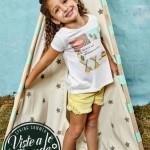 remera y short para niñas Ce pe verano 2016