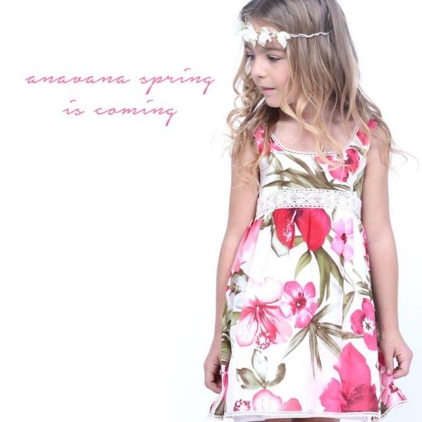 vestido estampado - Anavana - moda para nenas verano 2016