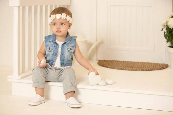 Minimimo chaleco jeans beba primavera verano 2016