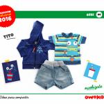 Owoko bermuda y remera moda para bebes verano 2016