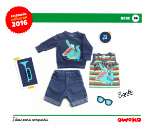 Owoko buzo y jeans moda para bebes verano 2016
