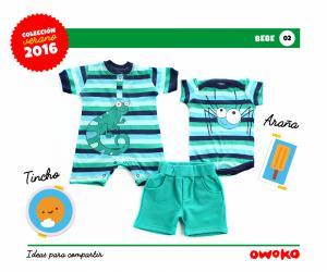 Owoko enterito rayas moda para bebes verano 2016