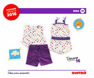 Owoko short y remera beba moda para bebes verano 2016