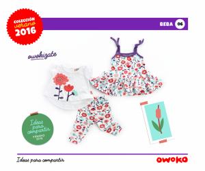 Owoko vestido nena moda para bebes verano 2016