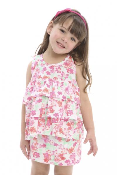 11afe4907 Pecosos vestido estampado nena primavera verano 2016 – Minilook