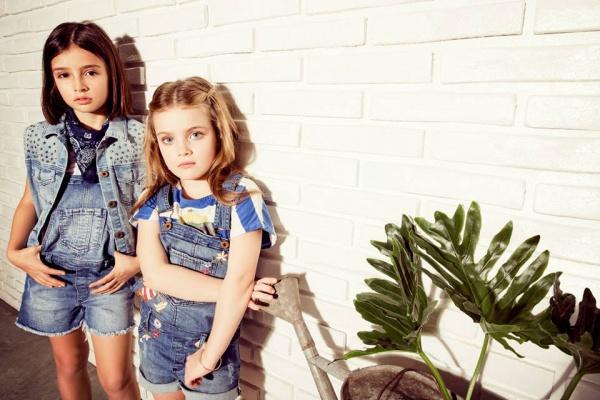 jardineros jeans nenas  verano 2016 Wanama Boys Girls