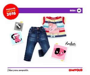 jeans y musculosa bebe Owoko moda para bebes verano 2016