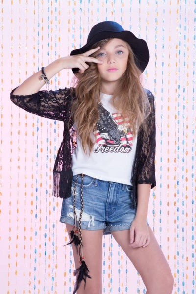 short denim para nena verano 2016 So Cippo